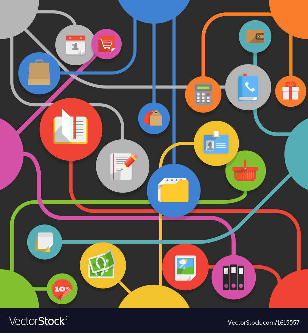 Abstract media scheme with modern icons vector   Price: 1 Credit (USD $1)