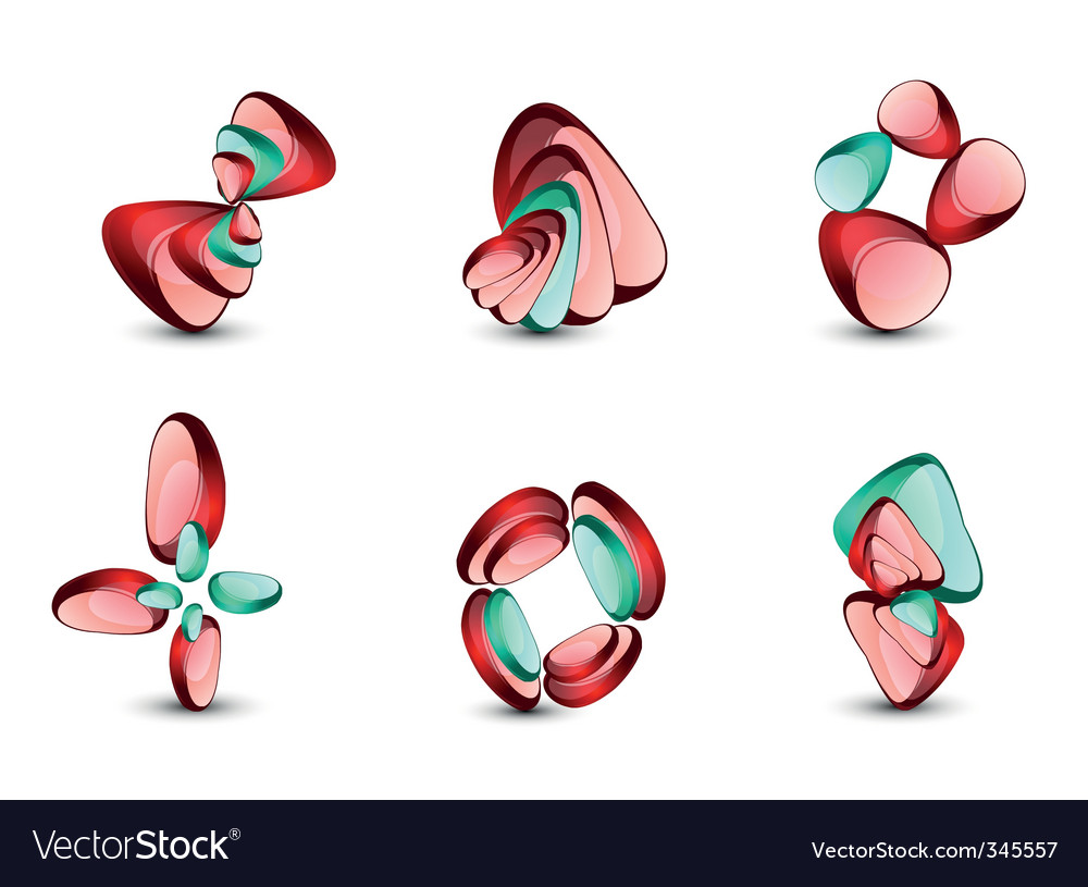 Abstract shapes set vector | Price: 1 Credit (USD $1)
