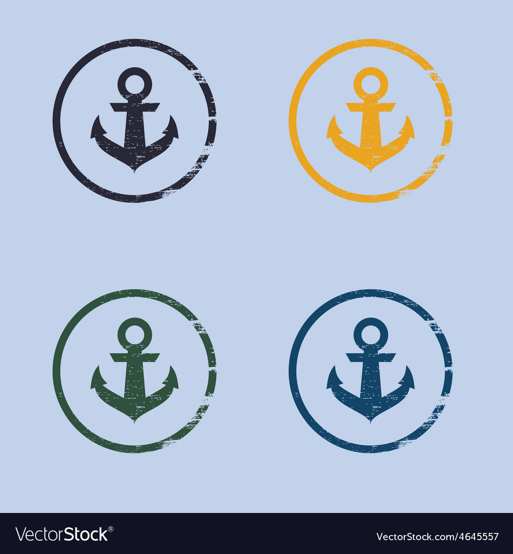 Anchor logo in grunge style vector | Price: 1 Credit (USD $1)