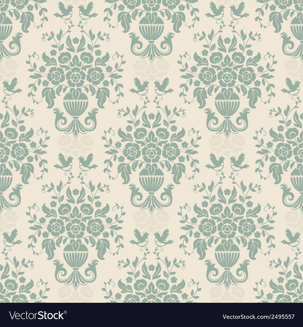 Blue baroque bright pattern vector | Price: 1 Credit (USD $1)