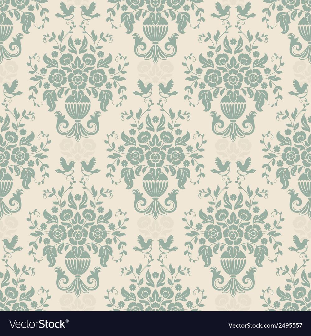 Blue baroque bright pattern vector | Price: 1 Credit (USD $1)