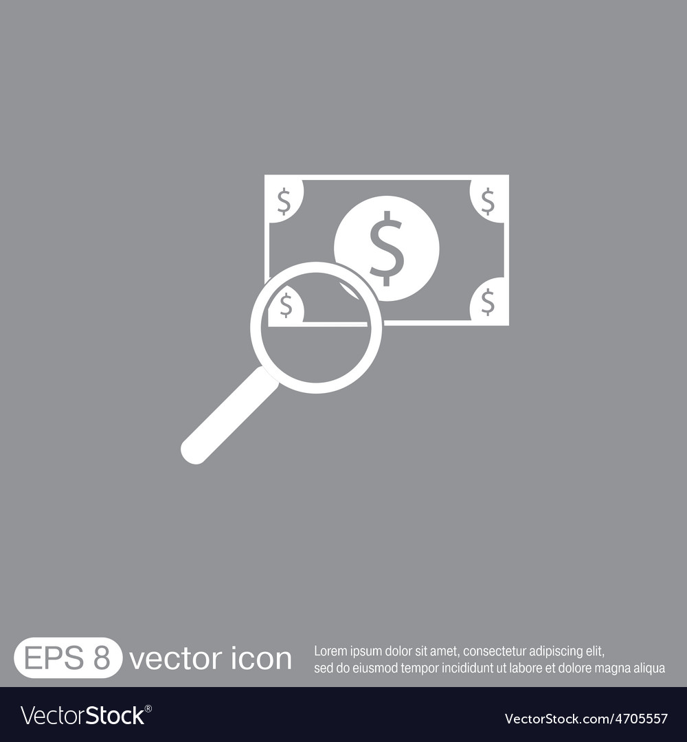 Dollar bill symbol of money vector | Price: 1 Credit (USD $1)