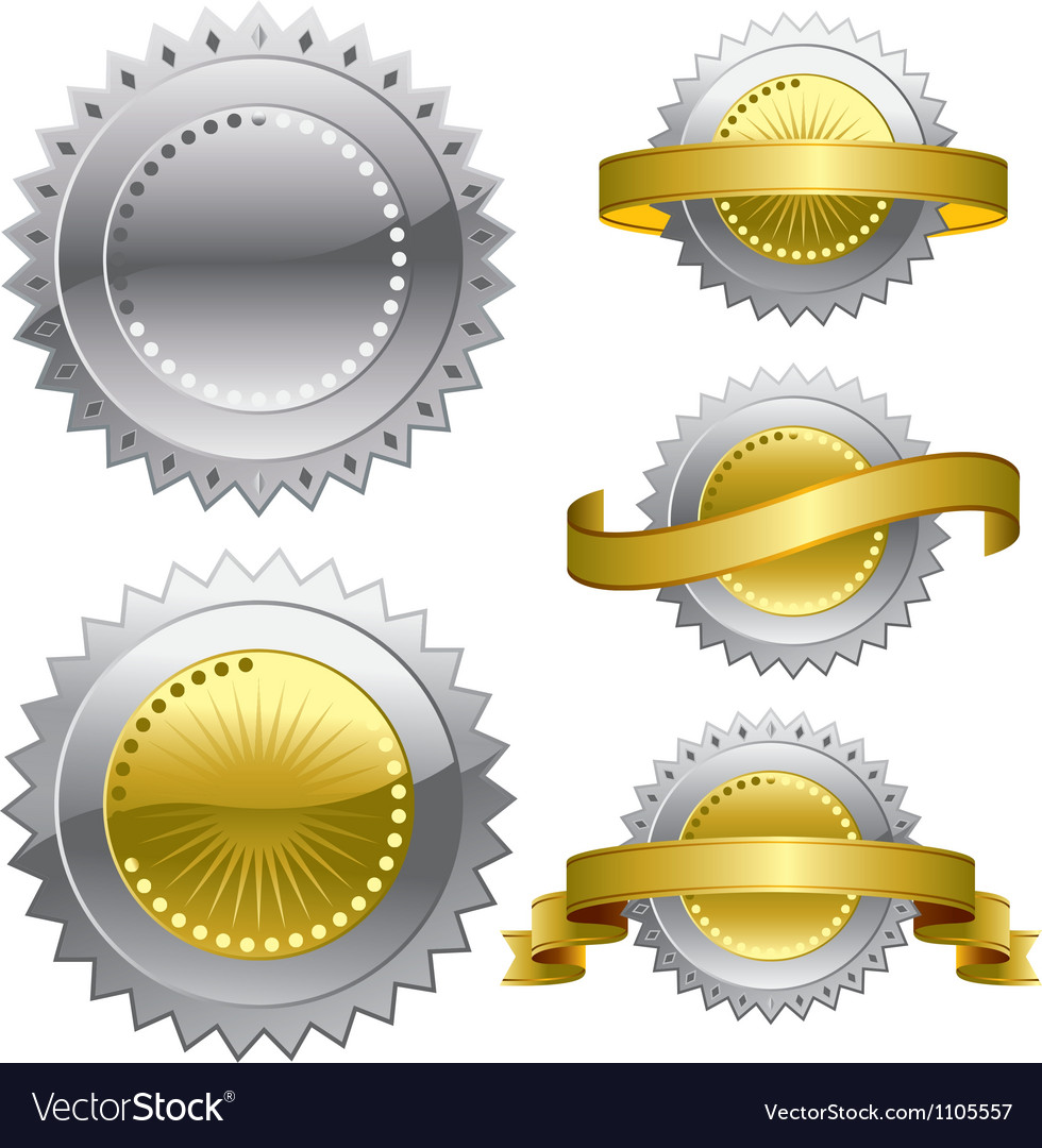 Medal award rosette vector | Price: 1 Credit (USD $1)