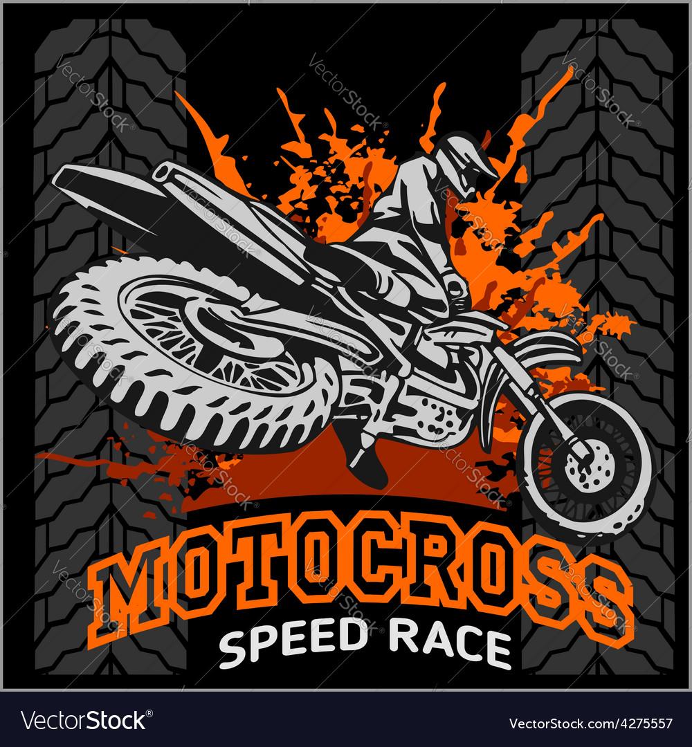 Motocross sport emblem vector | Price: 3 Credit (USD $3)