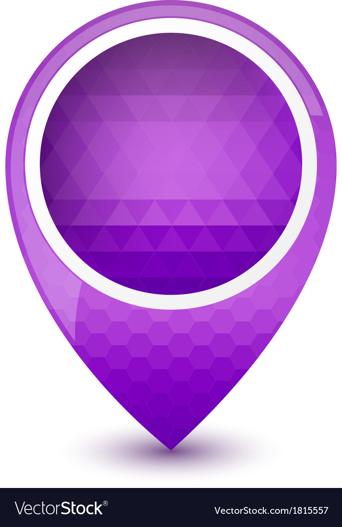 Purple round 3d map pointer vector | Price: 1 Credit (USD $1)