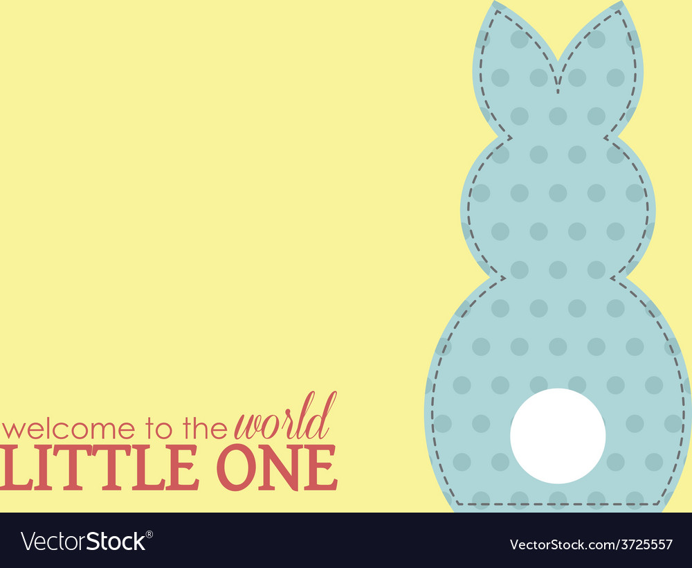Single boy rabbit wording vector | Price: 1 Credit (USD $1)