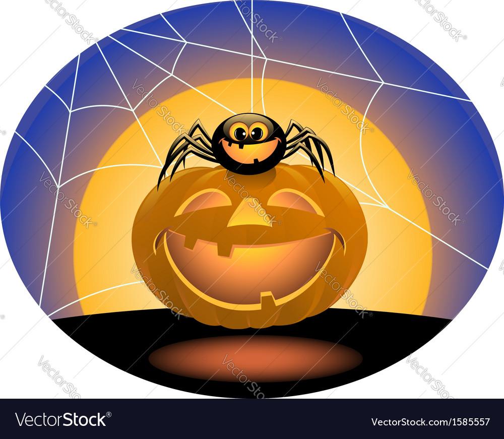 Spider and pumpkin vector | Price: 1 Credit (USD $1)