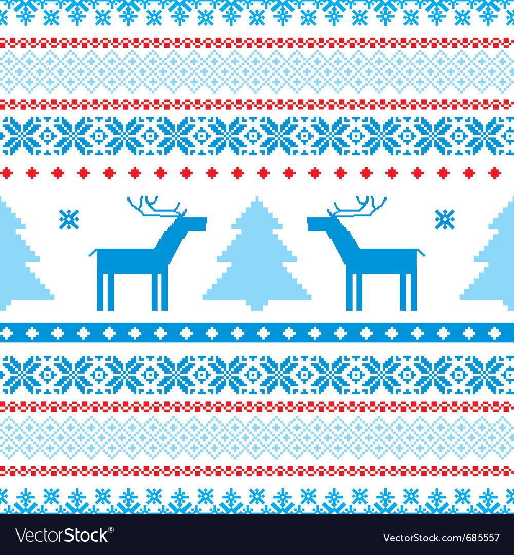 Traditional christmas knitted vector | Price: 1 Credit (USD $1)