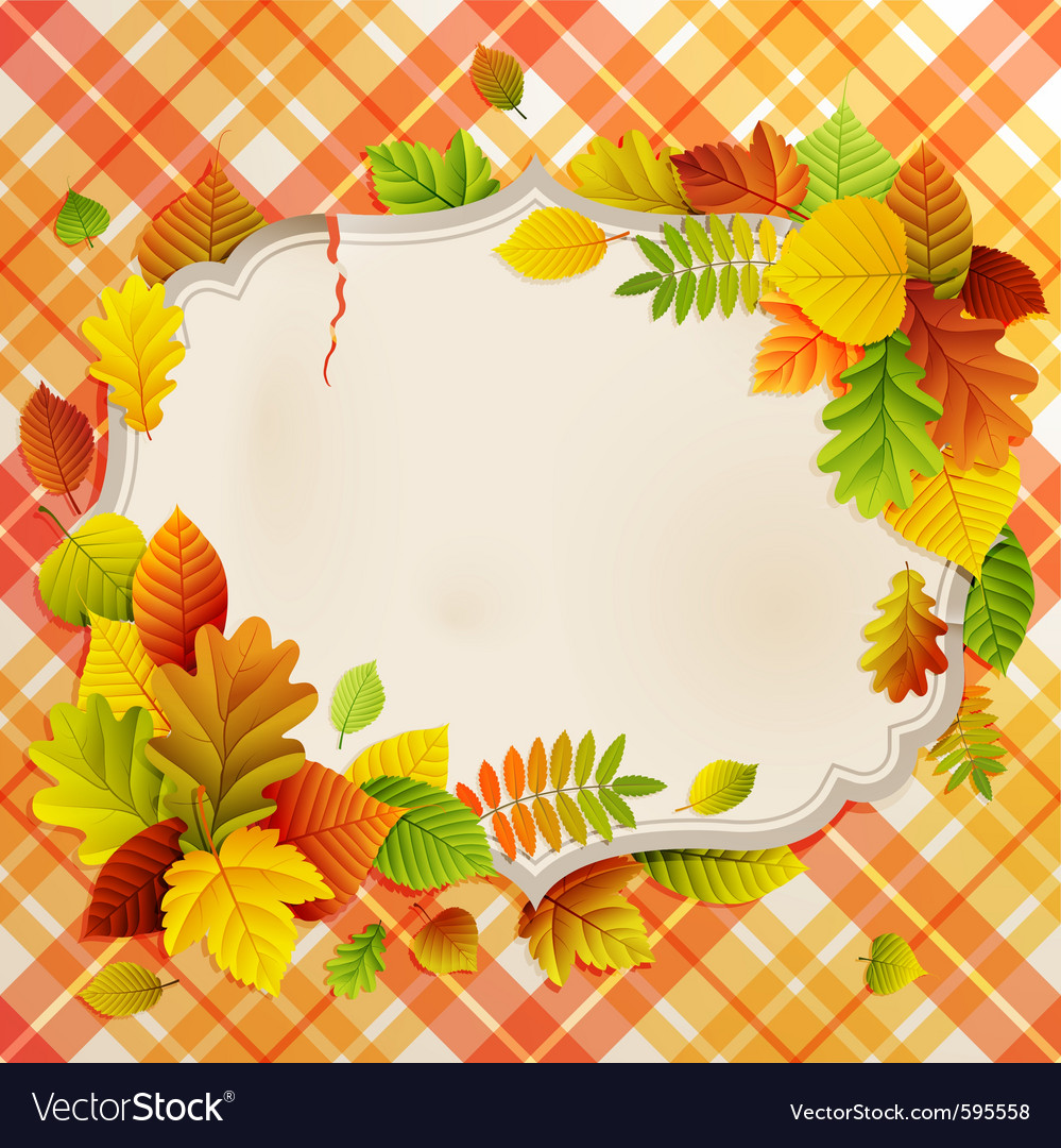 Autumn vintage greeting card vector | Price: 3 Credit (USD $3)