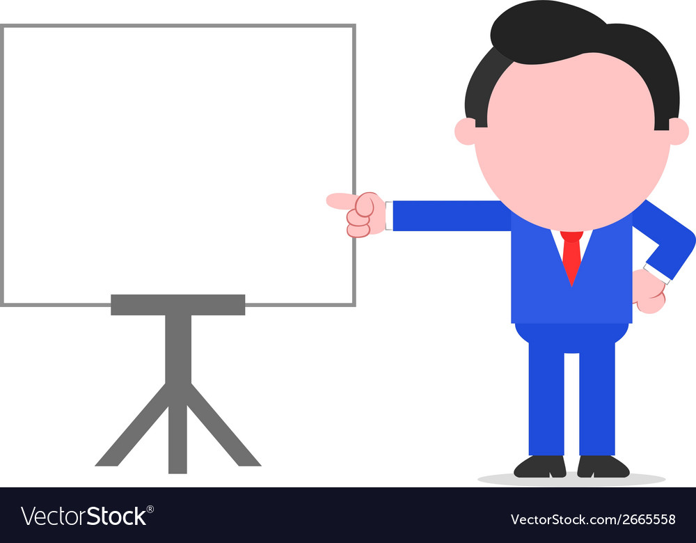 Businessman pointing to chart vector | Price: 1 Credit (USD $1)