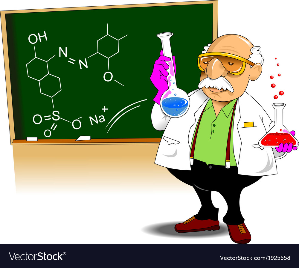 Chemistry teacher vector | Price: 1 Credit (USD $1)