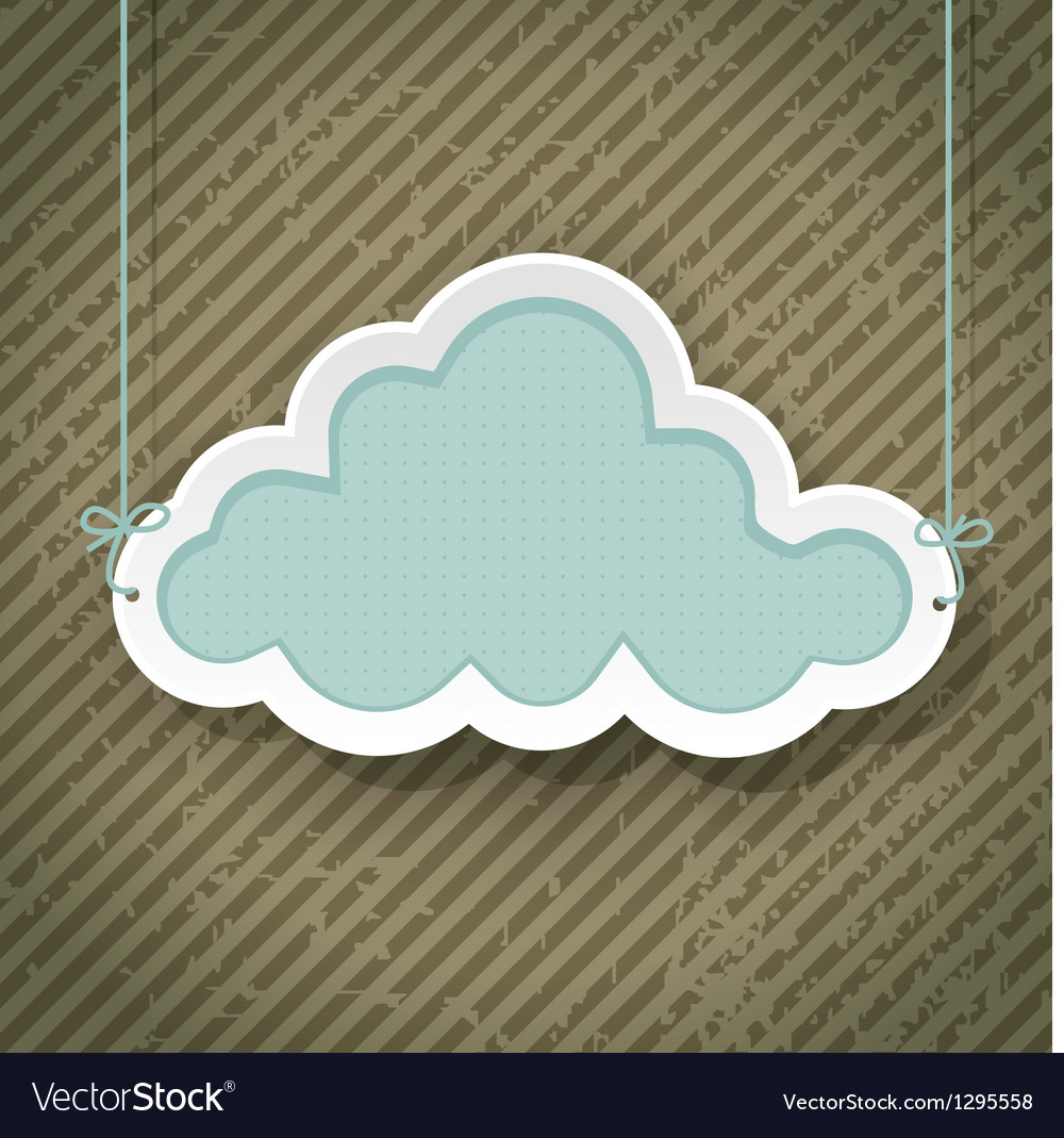 Cloud as retro sign vector | Price: 1 Credit (USD $1)