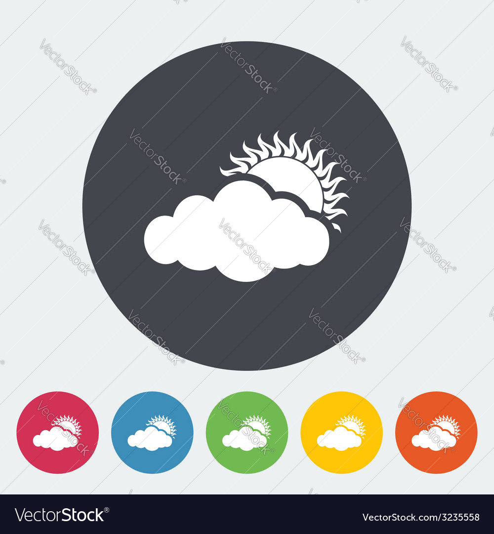 Cloudiness single icon vector   Price: 1 Credit (USD $1)