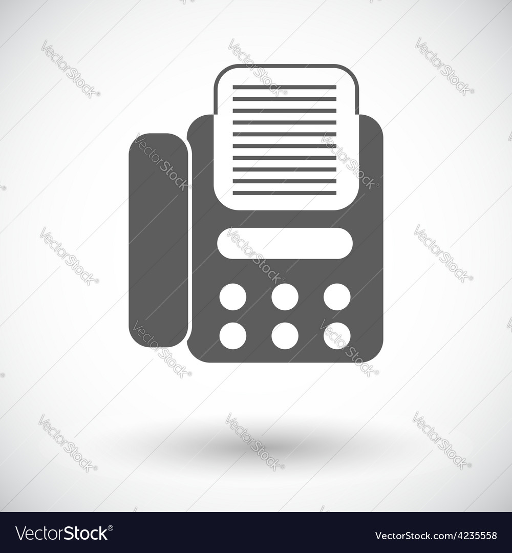 Fax icon vector | Price: 1 Credit (USD $1)