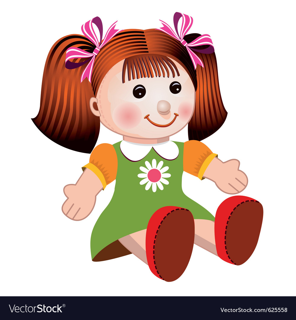 Girl doll vector | Price: 1 Credit (USD $1)