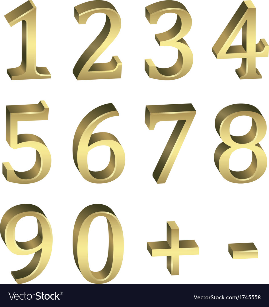 Golden numbers vector | Price: 1 Credit (USD $1)
