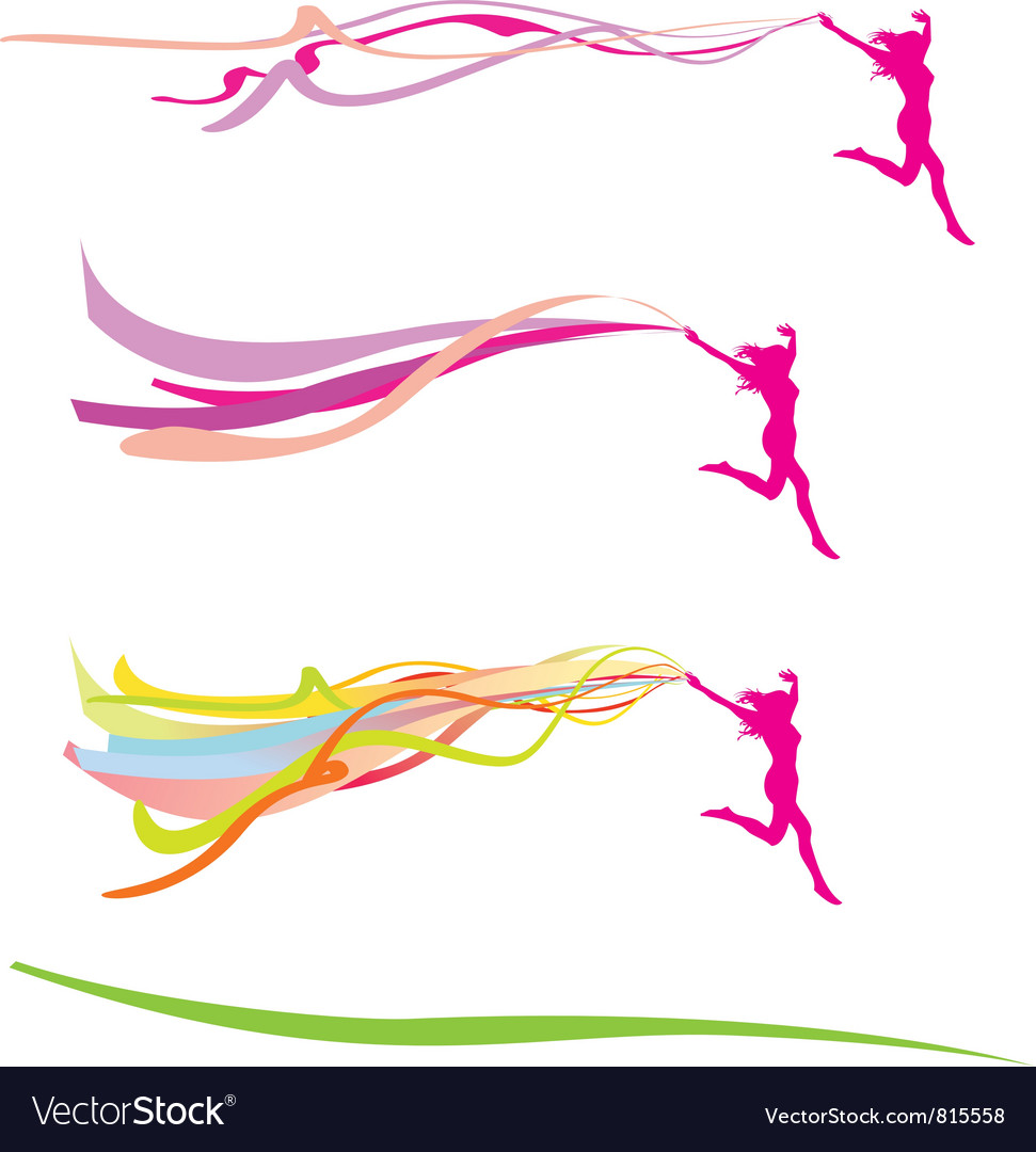 Lady freedom ribbons vector | Price: 1 Credit (USD $1)