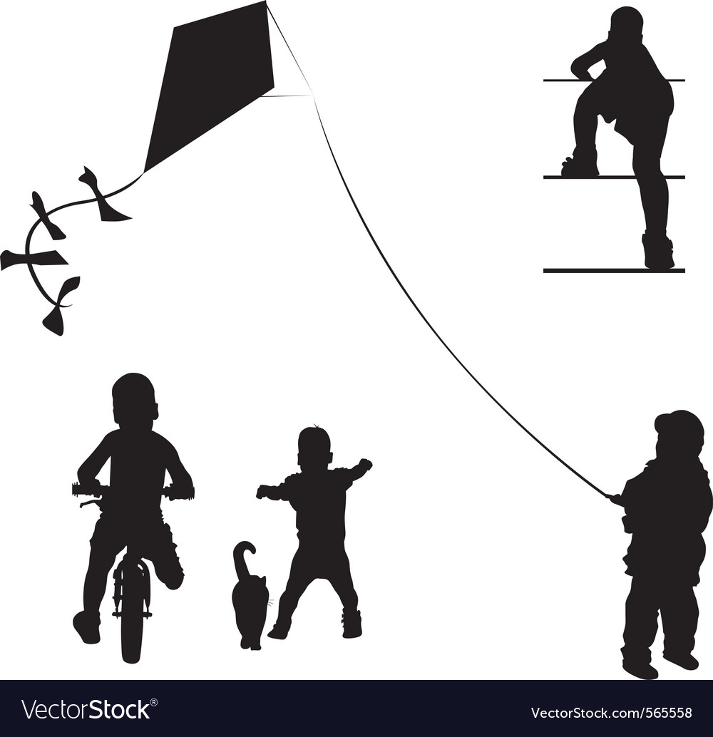 Little young boy vector | Price: 1 Credit (USD $1)