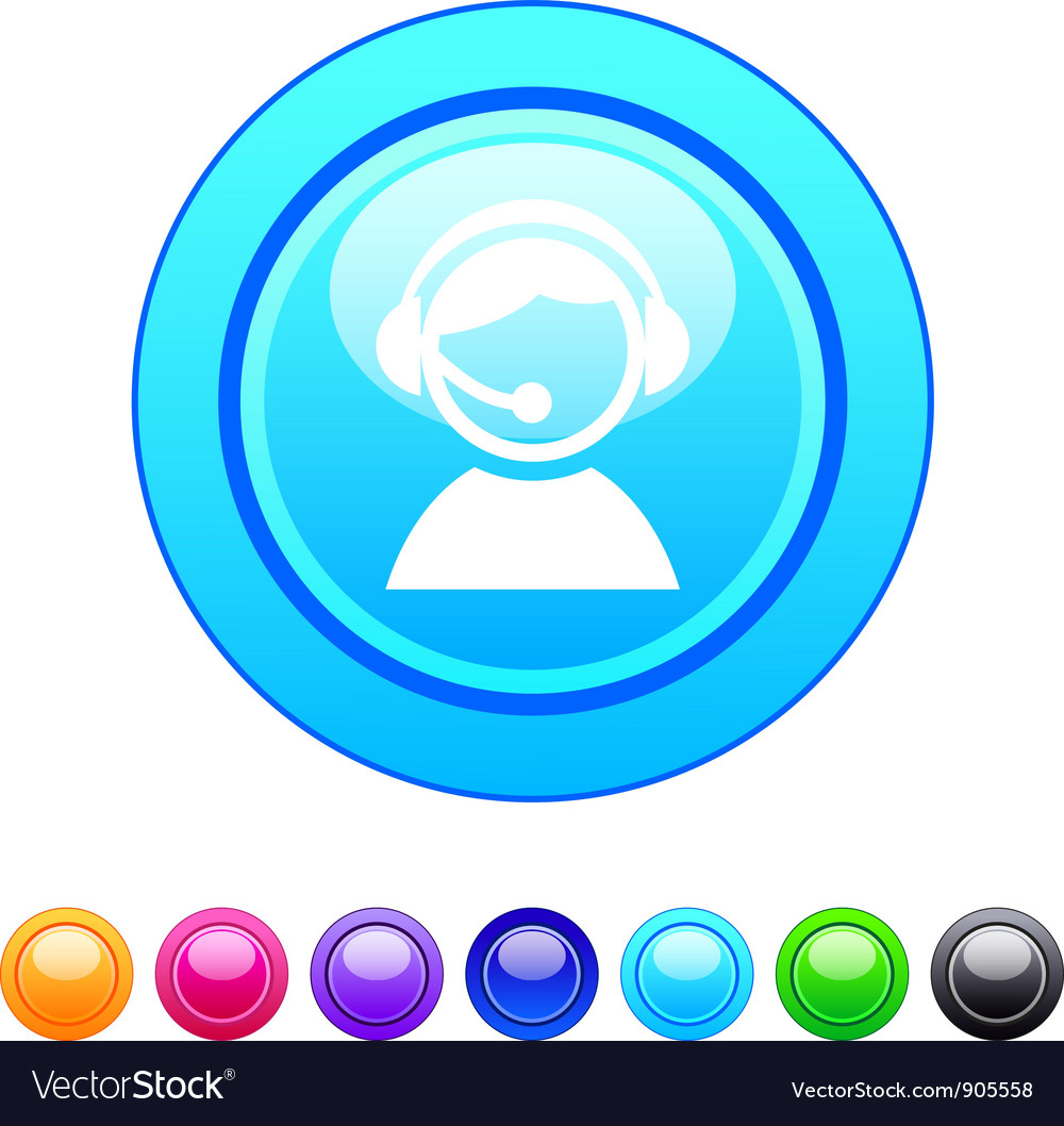 Operator circle button vector | Price: 1 Credit (USD $1)