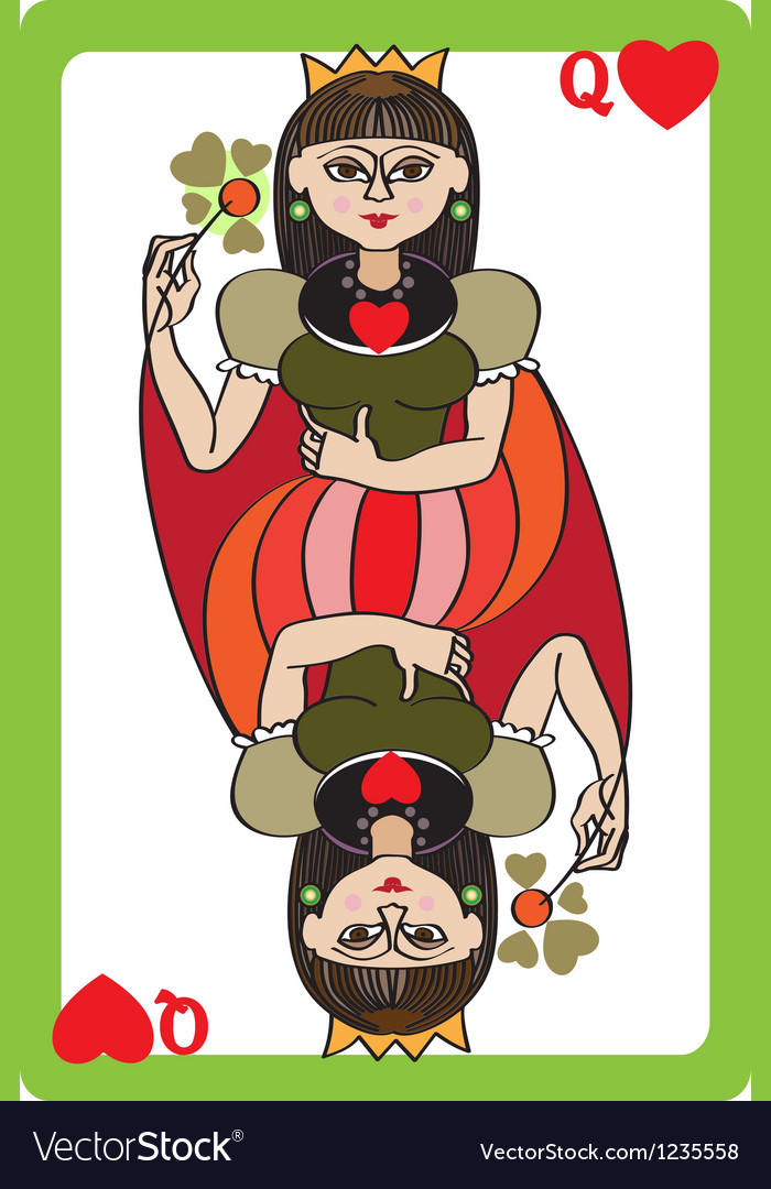Queen hearts vector | Price: 1 Credit (USD $1)