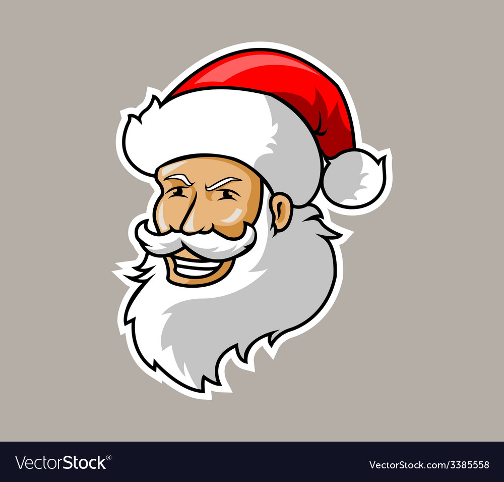 Santa head vector | Price: 1 Credit (USD $1)