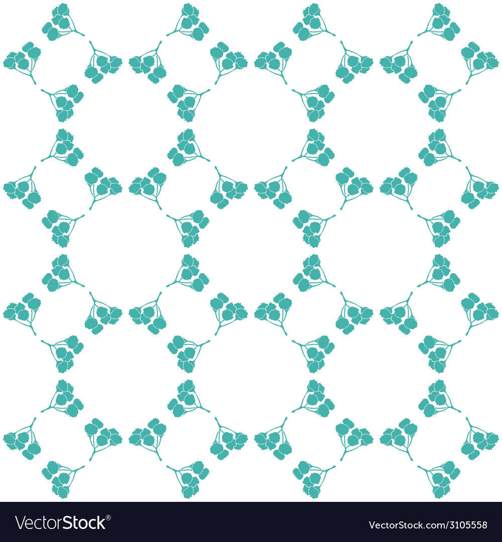 Seamless decorative flower pattern vector | Price: 1 Credit (USD $1)
