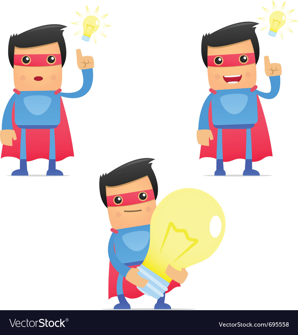 Set of funny cartoon superhero vector   Price: 3 Credit (USD $3)