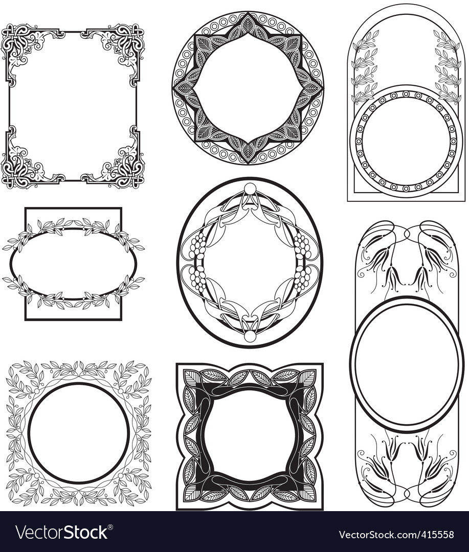 Set vintage frame vector | Price: 1 Credit (USD $1)