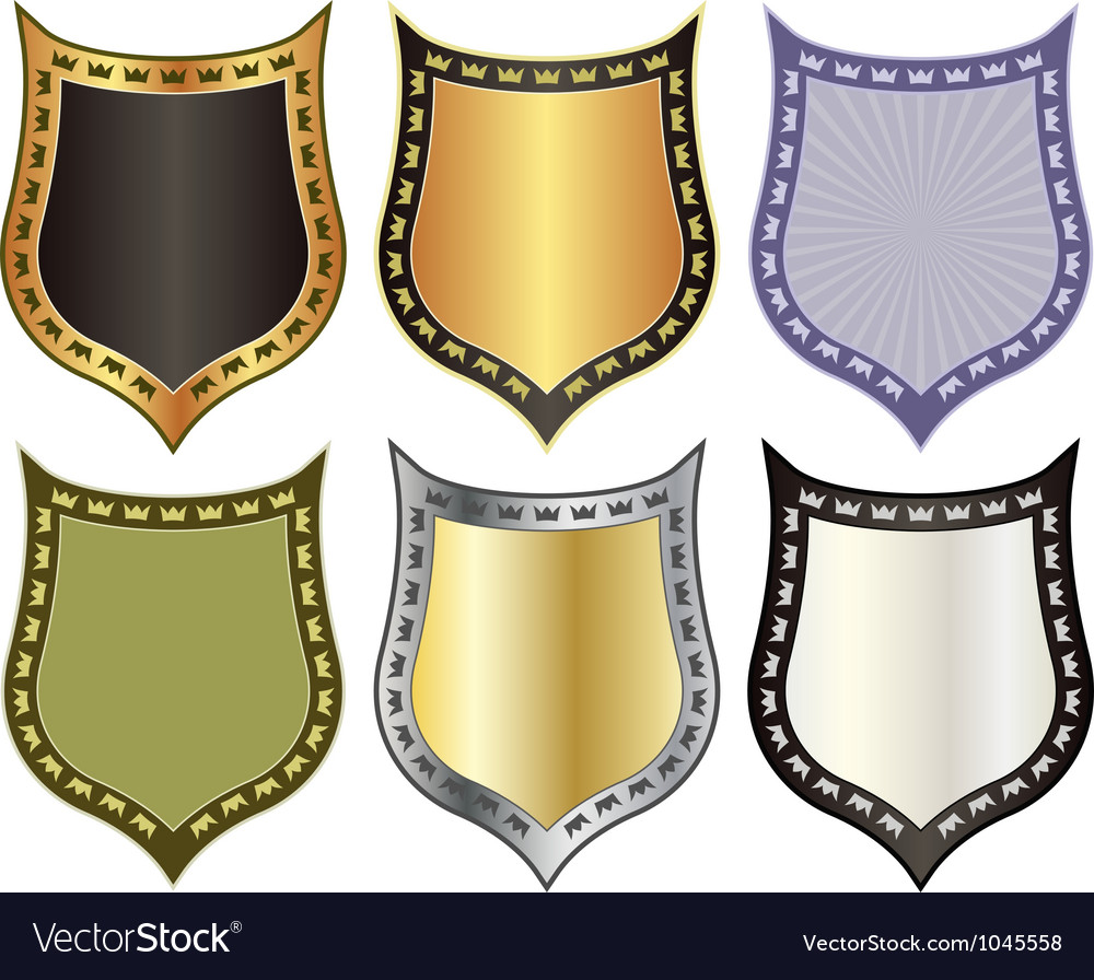 Shield with crowns vector | Price: 1 Credit (USD $1)