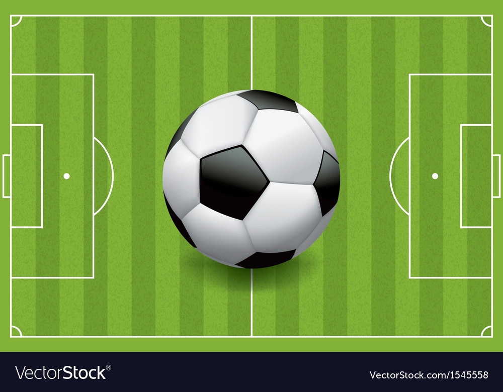 Soccer field with soccer ball vector | Price: 1 Credit (USD $1)