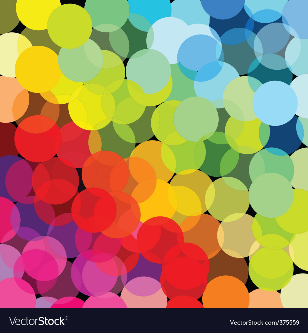 Abstract rainbow made of circles vector | Price: 1 Credit (USD $1)