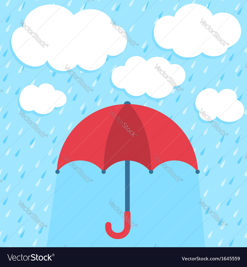 Autumn rain vector | Price: 1 Credit (USD $1)