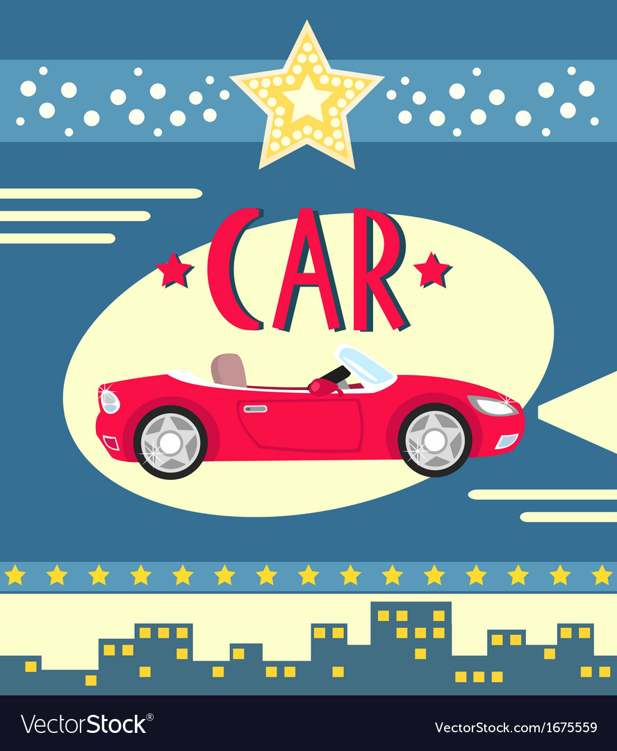 Car poster vector | Price: 1 Credit (USD $1)