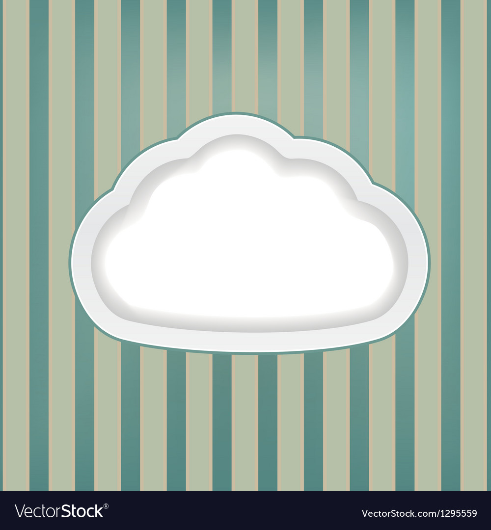 Cloud retro background vector | Price: 1 Credit (USD $1)