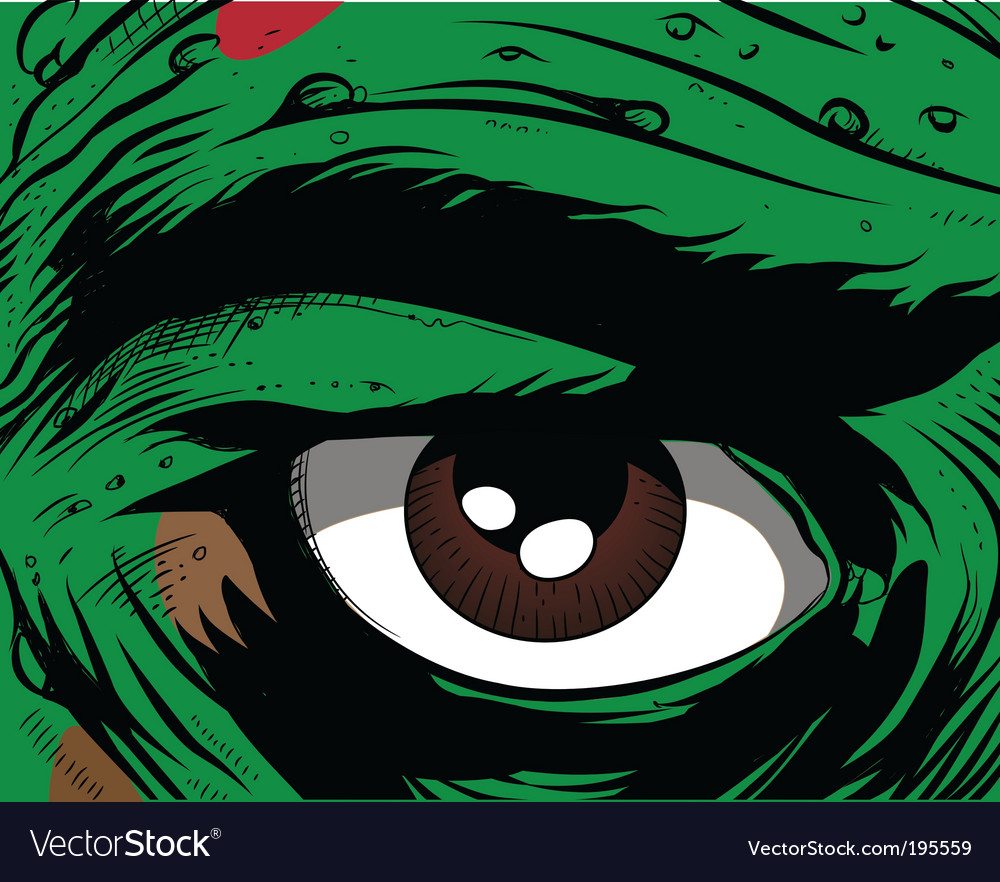 Comic book eye vector | Price: 1 Credit (USD $1)