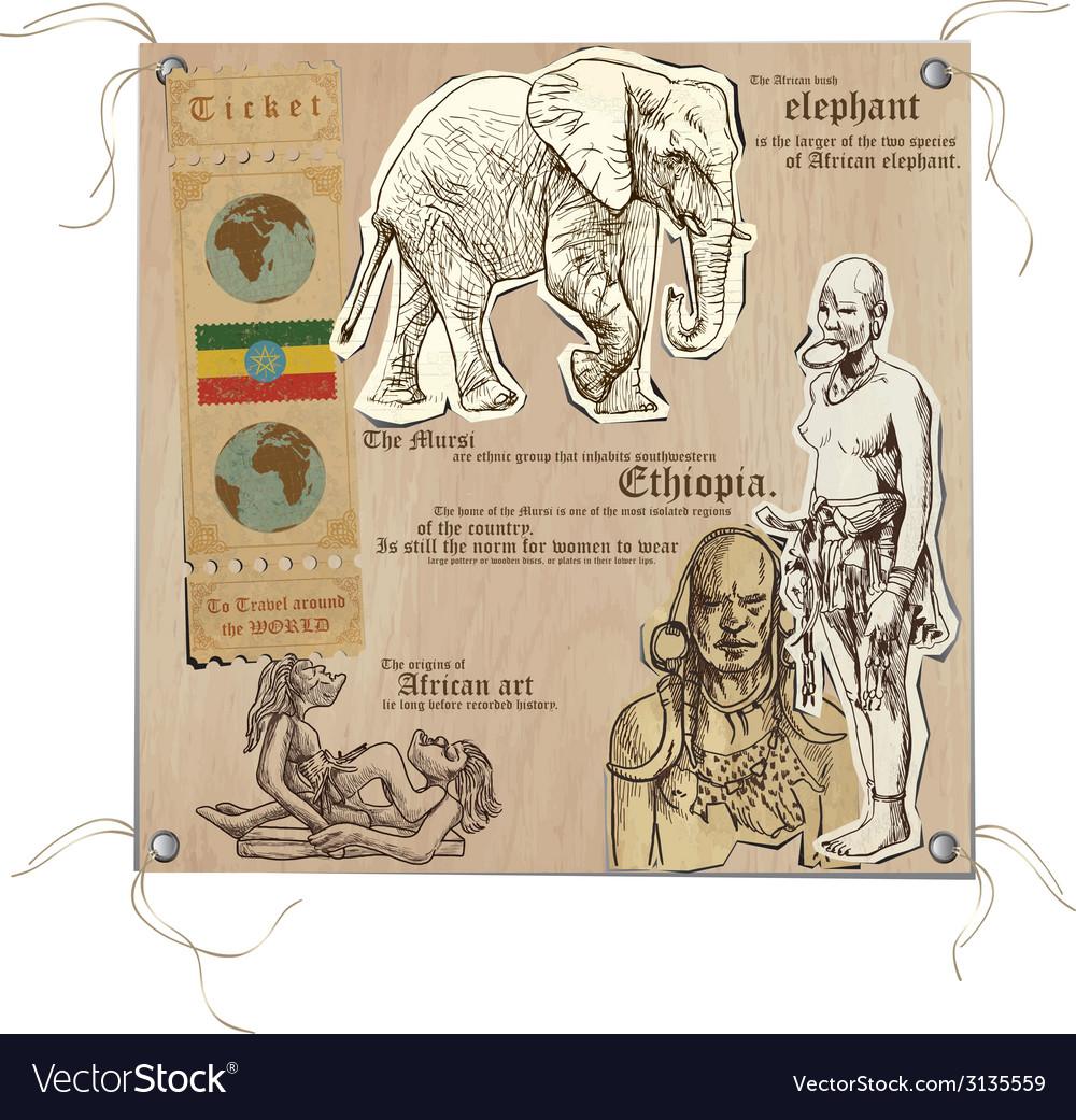 Ethiopia - pictures of life vector | Price: 1 Credit (USD $1)