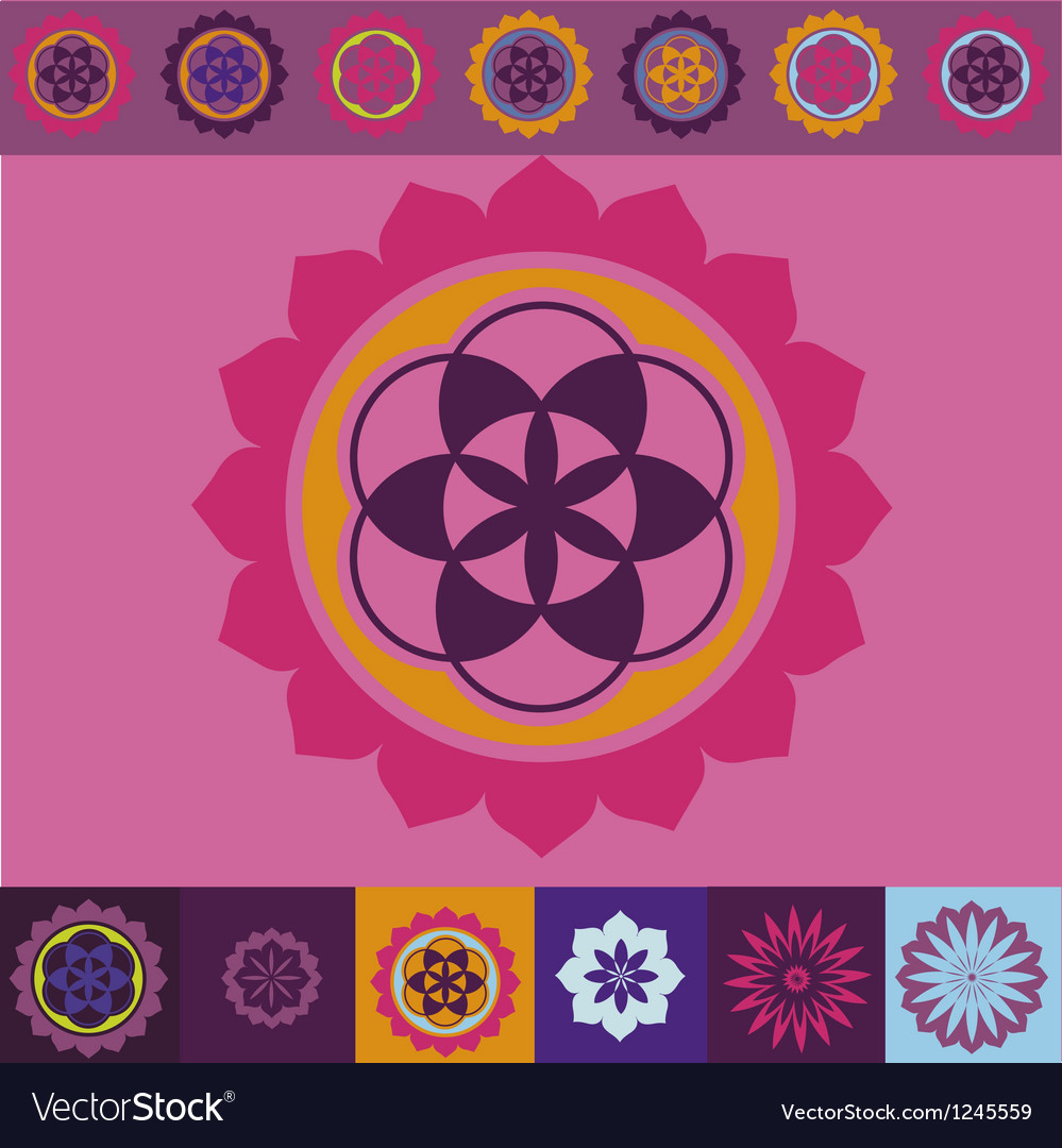 Flower of life seed ornamental design vector | Price: 1 Credit (USD $1)