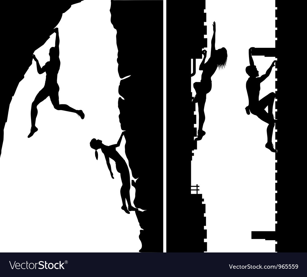 Free climbers vector | Price: 1 Credit (USD $1)