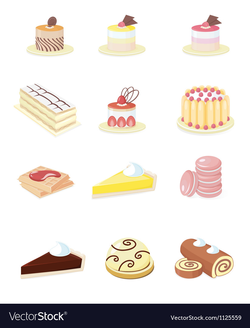 French pastry vector