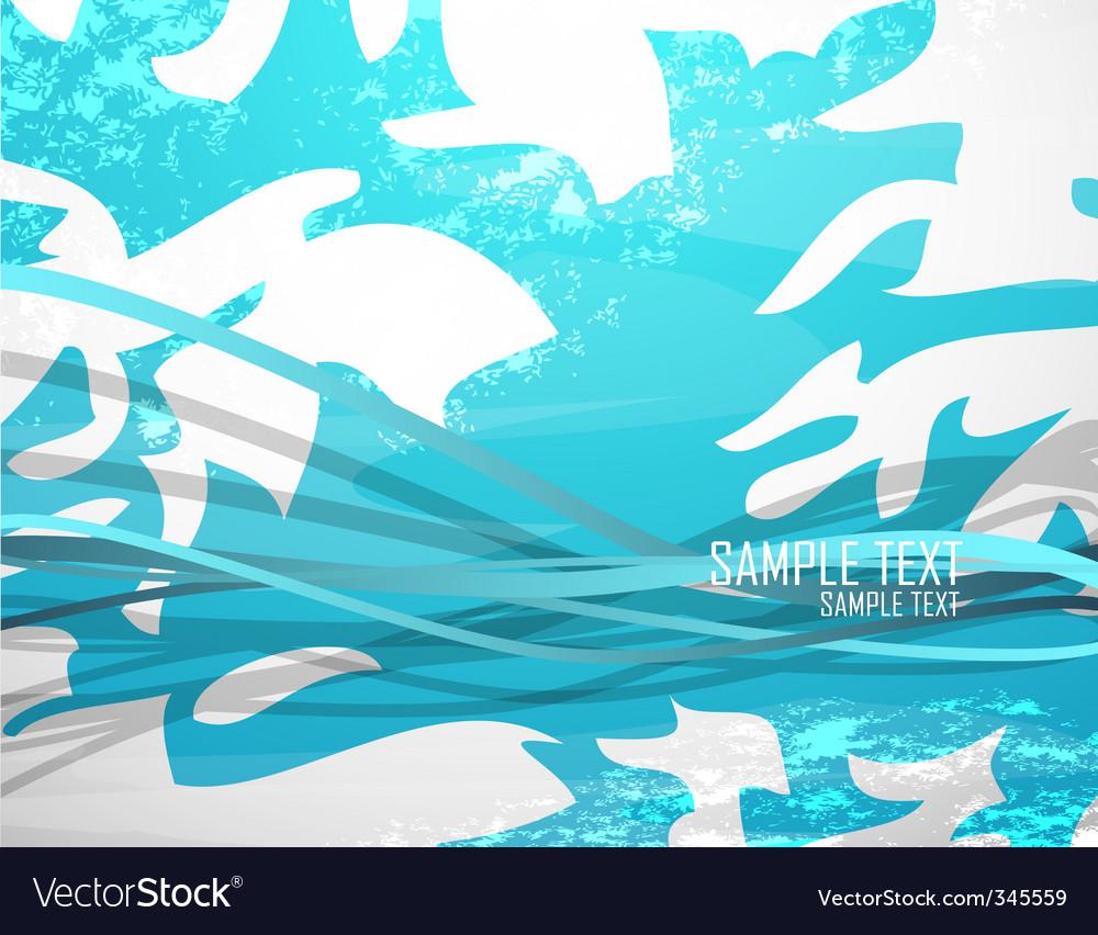 Futuristic floral background vector | Price: 1 Credit (USD $1)