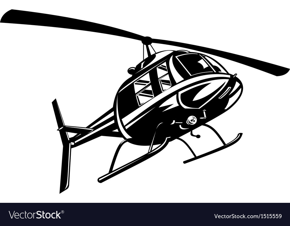 Helicopter chopper retro vector | Price: 1 Credit (USD $1)
