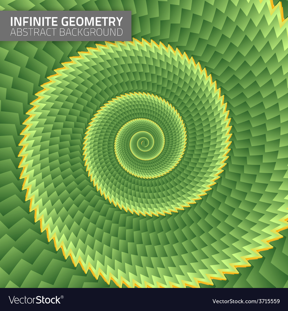 Infinite geometry fractal background vector | Price: 1 Credit (USD $1)