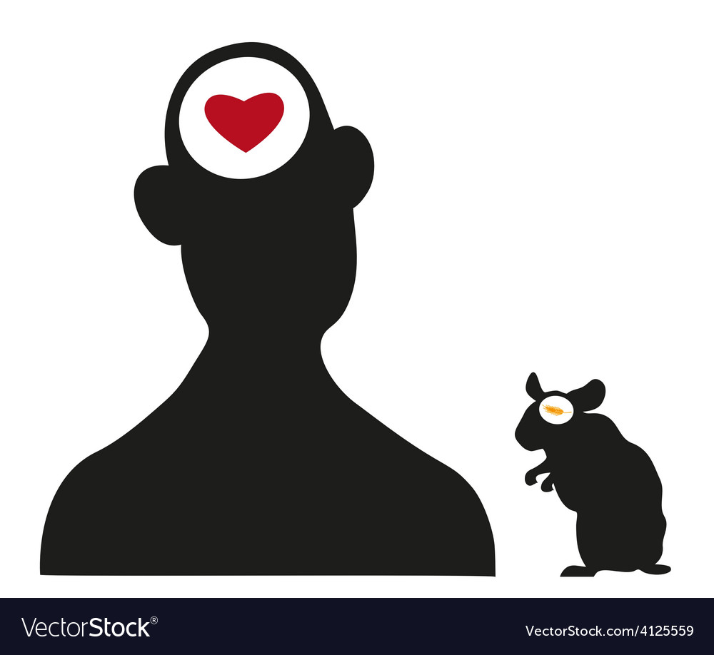 Man and hamster silhouettes vector | Price: 1 Credit (USD $1)