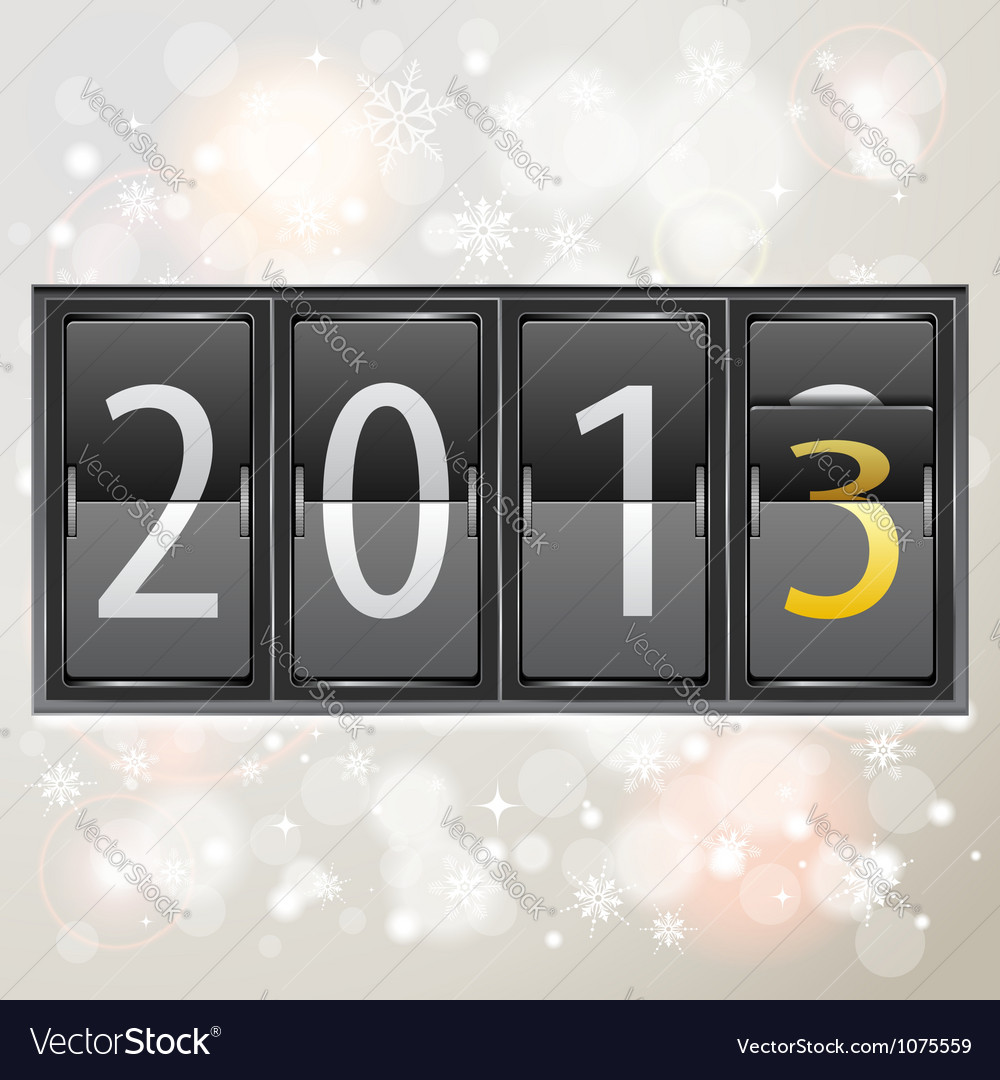 New year 2013 on mechanical timetable vector | Price: 3 Credit (USD $3)
