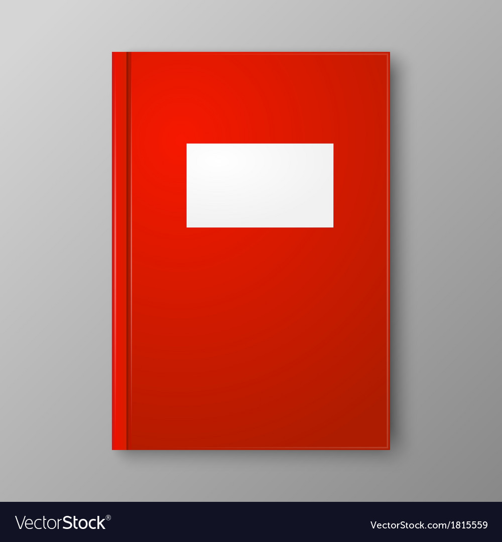 Red book on gray background vector | Price: 1 Credit (USD $1)