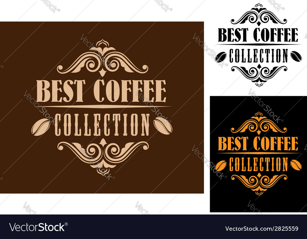 Retro coffee labels vector | Price: 1 Credit (USD $1)