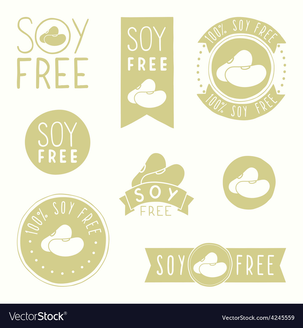 Soy free badges vector | Price: 1 Credit (USD $1)