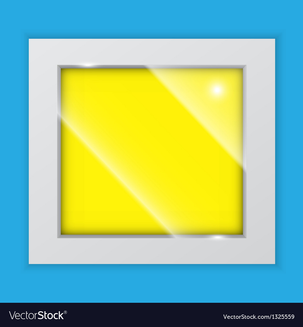Square picture frame on the wall vector | Price: 1 Credit (USD $1)