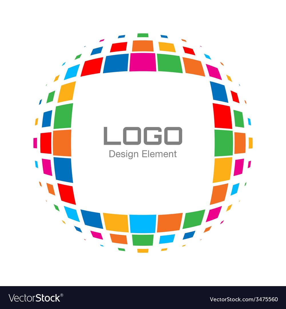 Abstract bright rainbow halftone logo vector | Price: 1 Credit (USD $1)