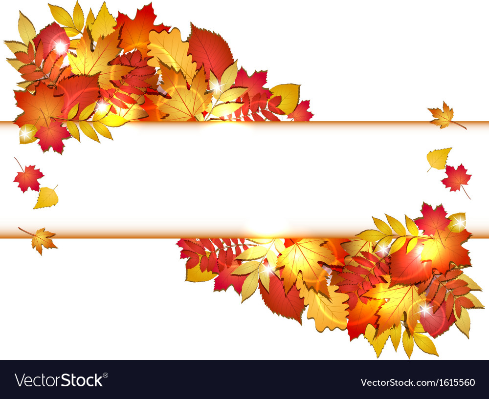Autumn banner with leaves vector | Price: 1 Credit (USD $1)